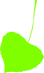 Lime Green Leaf Clip Art
