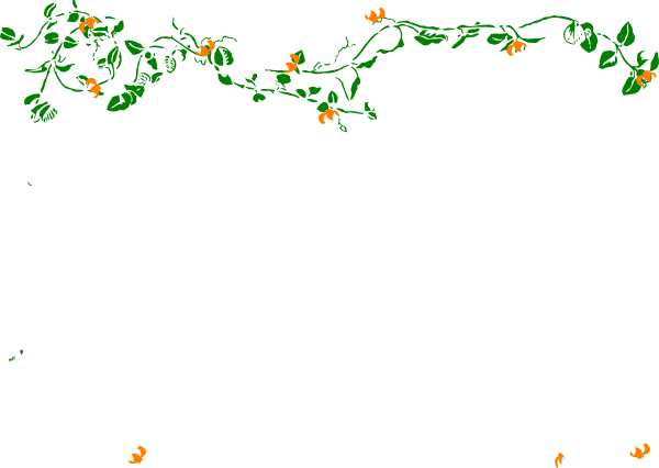Floral Garland - Partial Clip Art at Clker.com - vector clip art ...