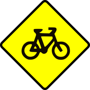Bicycle Caution Clip Art