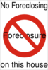 No Foreclosure Sign Clip Art