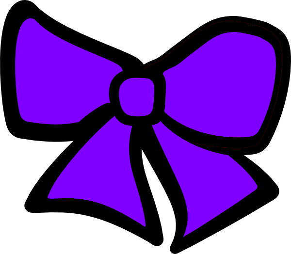 Cheer Bow Silhouette Hair bow clip art - vector