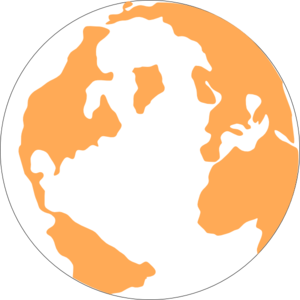Orange And Blue Globeju Clip Art