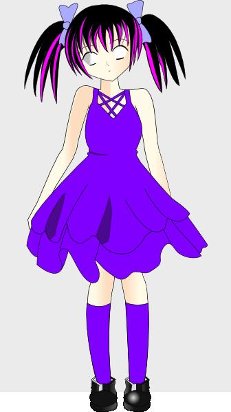 Purple Girl Clip Art at Clker.com - vector clip art online ...
