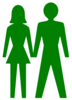 Man And Woman (heterosexual) Icon (alternate) Clip Art