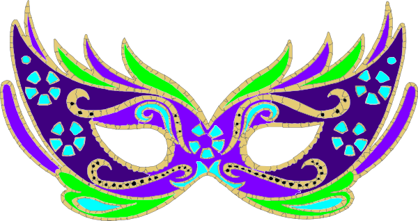 Purple Blue Green Masquerade Mask - Fnc Clip Art at Clker.com - vector ...