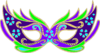 Purple Blue Green Masquerade Mask - Fnc Clip Art