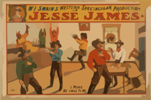 W.i. Swain S Western Spectacular Production, Jesse James Clip Art