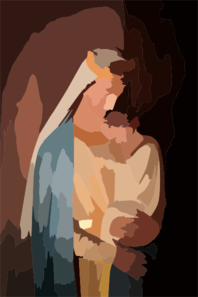 Virgin And Child Clip Art