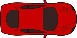 Red Sports Car Top View Clip Art