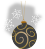 Gray Decorative Ornament Clip Art