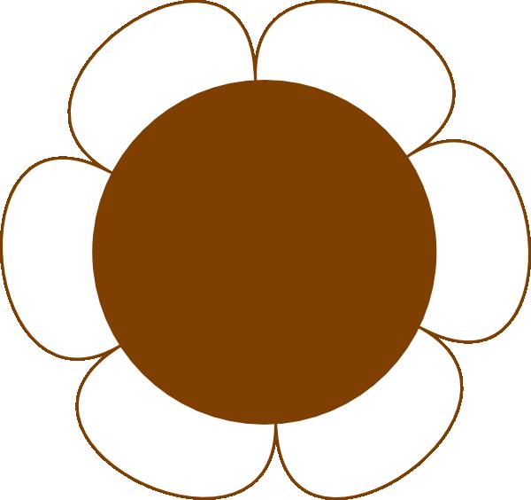 Brown Flower Big Clip Art At Clker Com Vector Clip Art