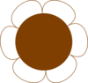 Brown Flower Big Clip Art