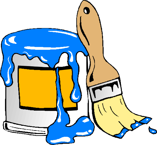 Paint Can Brush Clip Art at Clker.com - vector clip art online ...