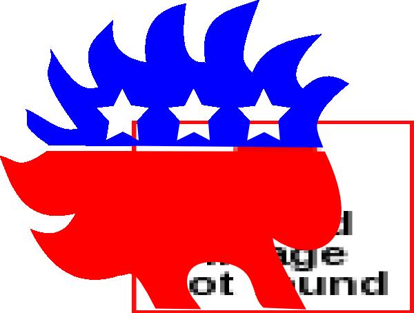 libertarian porcupine clip art at clkercom vector clip