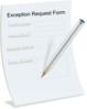 Exception Request Form Clip Art