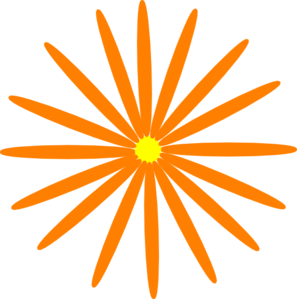 Orange Daisy Clip Art