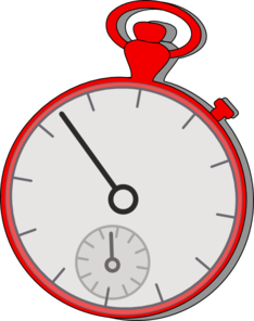 Stop Watch Red Clip Art