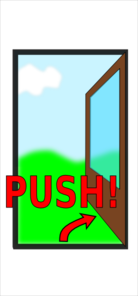 Sign Push The Door Clip Art