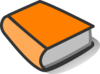 Orange Book Reading Clip Art