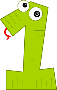 Number One Green Clip Art
