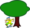 Tree And Dude Clip Art