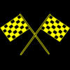Chequered Flags Yellow Clip Art