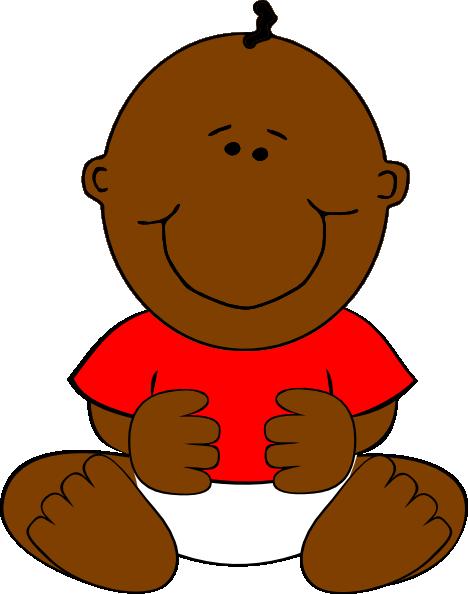 brown baby boy clip art at clker com vector clip art black baby clipart free black baby clip art