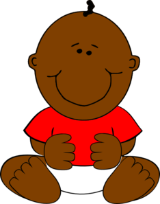 Brown Baby Boy Clip Art