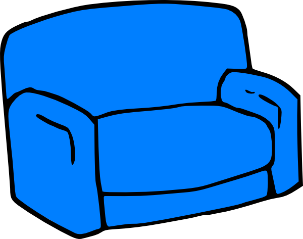 Blue Sofa Clip Art At Clker Com Vector Clip Art Online Royalty