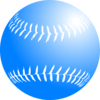 Blue Softball Clip Art
