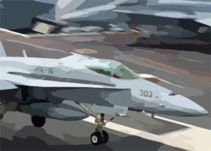 An F/a-18c Hornet Assigned To  Valions  Of Strike Fighter Squadron One Five (vfa-15) Makes And Arrested Landing On The Flight Deck Aboard Uss Harry S Truman (cvn 75). Clip Art