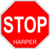Stop Harper Sign Project Clip Art