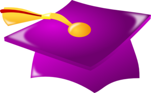 Purple Graduation Hat With Tassle Clip Art