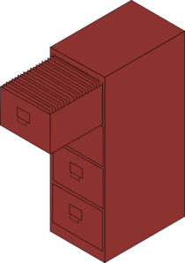 Filing Cabinet Brown Clip Art