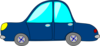 Blue Hump Car Clip Art