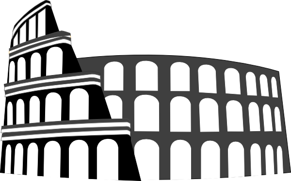 Colosseum Rome Simplified Clip Art At Clkercom Vector Clip Art