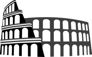 Colosseum Rome Simplified Clip Art