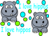 Kaili S Awesome Hippo Clip Art