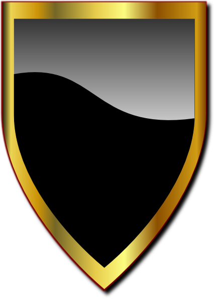 black and gold frame png. Black And Gold Glossy Crest Clip Art At Clker.com - Vector Online, Royalty Free \u0026 Public Domain Frame Png