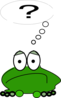 Frog With A Question Clip Art