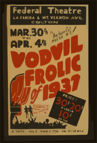 The Tuneful Musical Hit!  Vodvil Frolic  Of 1937 - Direct From Hollywood Clip Art