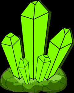 Green Crystal Clip ArtQuartz Clipart