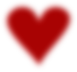 Dark Red Blurred Heart 2 Clip Art