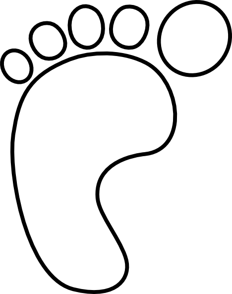 Left foot hollow clip art at vector clip art for Footprint cut out template