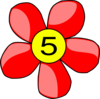 Red Flower Clip Art