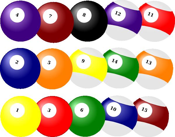 Billiard Balls Clusters Clip Art At Clker Com Vector