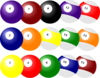 Billiard Balls Clusters Clip Art