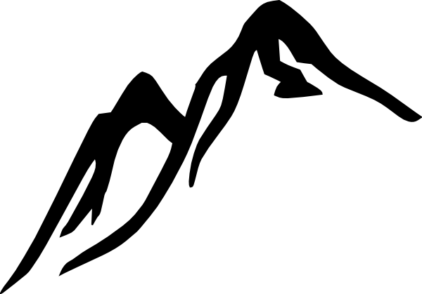 Black and white hill clip art