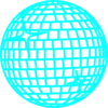 Snow Disco Ball Rand Blau Clip Art