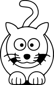 Lemmling Cartoon Cat Black White Line Art Coloring Book Colouring Drawing Px Clip Art